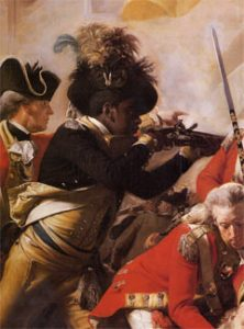 """Detail of """"The Death of Major Pierson"""" painting by John Singleton Copley"""